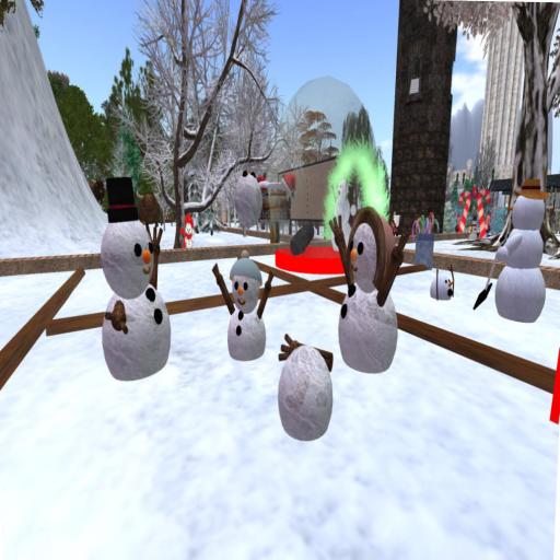 2014 Christmas snowman display