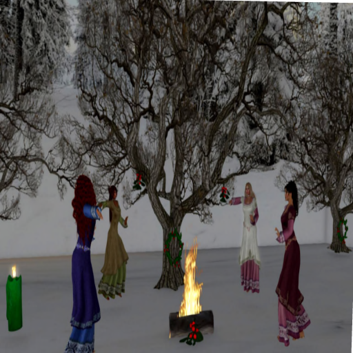 Pagan Celebration - around the fire